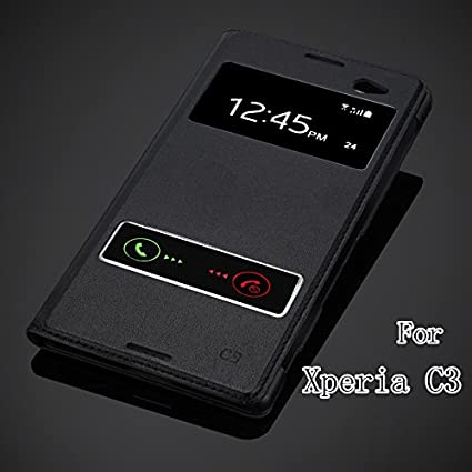 buy popular 0a55d 4f40a SmartLike Sony Xperia C3 Dual D2502 Window Leather: Amazon.in ...