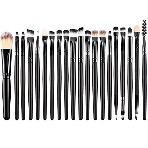 20pcs Makeup Brushes Set Professional Eye Shadow Eyebrow Foundation Mascara Lip blending Cosmetic Brush Maquiagem (Tarte Lash Mascara Comb)