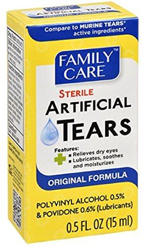 Family Care Original Formula Sterile Lubricant Artificial Tears, 4-pk (2 ounces)