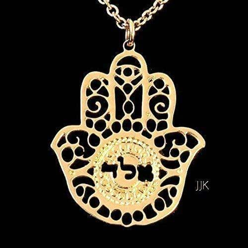 Amazon.com: Kabbalah Hamsa Jewelry, Gold Necklace, Hand