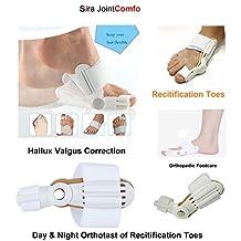 Sira Recitification Toes, Bunion, Splint Orthopedic Footcare, Hallux Valgus Correction, Broadhurst Day Night Splint Care, Orthopedic Foot Massager, Toe Separator, Recitification Toes