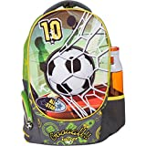 MB ALL-STAR Kids Backpack with 3D Soccer Design Elementary School Book Bag for Boys - Large Compartments and Side Pockets - Durable with Padded Bottom by