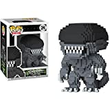 Funko Xenomorph: Alien x POP! 8-bit Horror Vinyl Figure & 1 PET Plastic Graphical Protector Bundle [#024 / 24597 - B]
