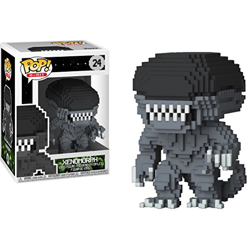 (Funko Xenomorph: Alien x POP! 8-bit Horror Vinyl Figure & 1 PET Plastic Graphical Protector Bundle [#024 / 24597 -)