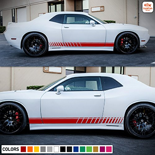 Side Rocker Stripes Decal Sticker Graphic Compatible with Dodge Challenger R/T SRT 2008-2017