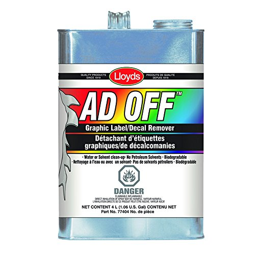 Price comparison product image Ad Off - Adhesive Remover for Vinyl Wraps,  Graphics,  Decals,  77404,  4 L can ( 1.06 gal)