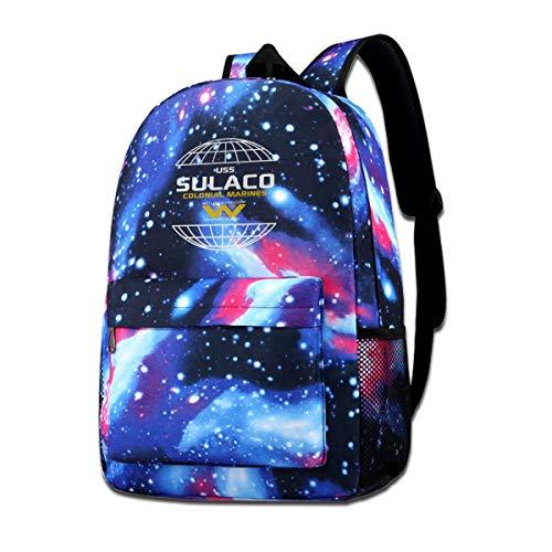 Galaxy Printed Shoulders Bag USS Sulaco Colonial Marines Premium Alien Conestoga Class Fashion Casual Star Sky Backpack For Boys&girls (Handling Material Conestoga)
