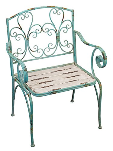 Regal Art & Gift Fleur De Lis 26.75 inches x 21.75 inches x 36.5 inches Metal Wood Chair - Outdoor Living Chair