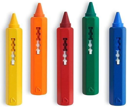 Munchkin Juguete De Baño 5 Lápices De Colores Amazon Es Juguetes Y Juegos