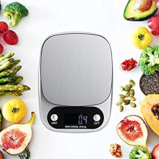 Leftwei Mini Scale Electronic Scales Weight Scale 5000G/0.1G Food Scale Household Kitchen Scale Food Vegetables House School for Home Kitchen