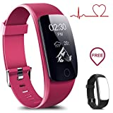 Coffea Fitness Tracker, H7-HR Activity Tracker : Heart Rate Monitor Wireless Smart Wristband Bracelet, Waterproof Fitness Watch with Replacement Band for Android & iOS …