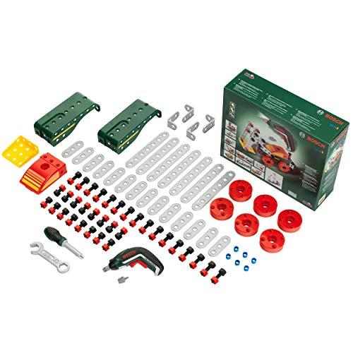 Theo Klein-8497 Set de construcción Multi-Tech Bosch, 107 Piezas, Ixolino a Pilas con luz y Sonido, Medidas: 32 cm x 27 cm x 9.5 cm, Juguete para niños a Partir de 3 años, Multicolor (Klein 8497)
