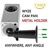 (Pack of 3) Upgrade Wyze Cam Pan Metal Wall Mount, adjustment Swivel Ceiling Mount for Wyze Cam Pan