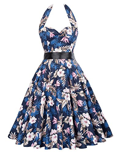 Cotton V-neck Halter Dress - 9