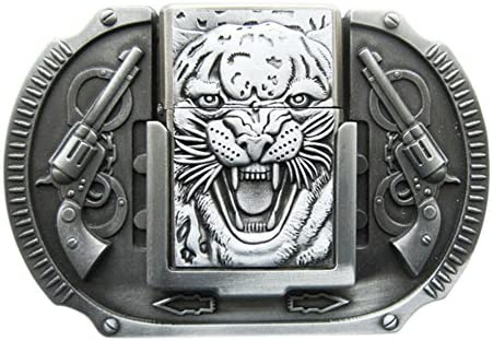 New Vintage Tiger Guns Lighter Belt Buckle ベルトのバックル also Stock in US