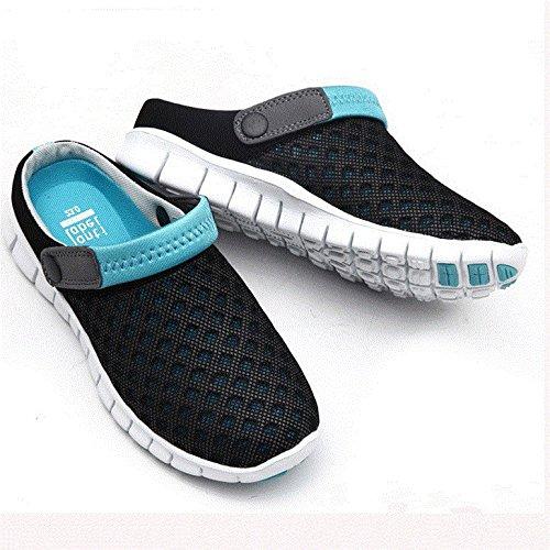 Xing Lin Sandalias De Hombre Los Hombres Del Agujero De Verano Zapatos Zapatillas Zapatillas De Playa De Ventilación De Tendencia Media Zapatillas Honeycomb Sandpiper Sandalias Black Moon