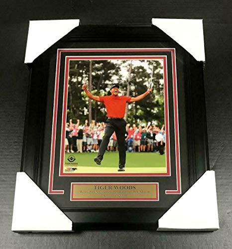 - TIGER WOODS UDA UN-SIGNED FRAMED 8x10 PHOTO 2019 PGA MASTERS CHAMPION