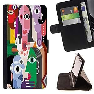 King Case - FOR Samsung Galaxy S6 EDGE - The Masked woman - Prima caja de la PU billetera de cuero con ranuras para tarjetas, efectivo Compartimiento desmontable y correa para la mu?eca
