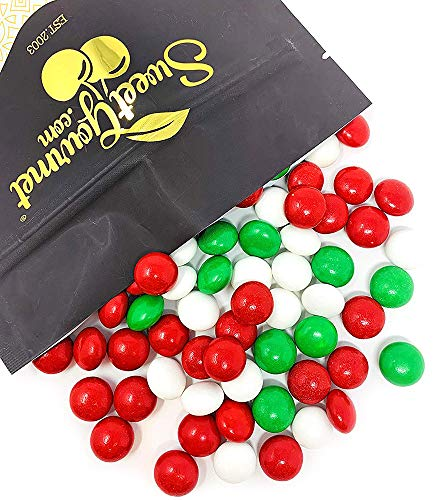 Gourmet Christmas Chocolate Mints | Seasonal Candy | Red White Green | bulk unwrapped | 1.5pounds
