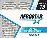 Aerostar 20x30x1 MERV 13 Pleated Air Filter, Pleated (Pack of 6)
