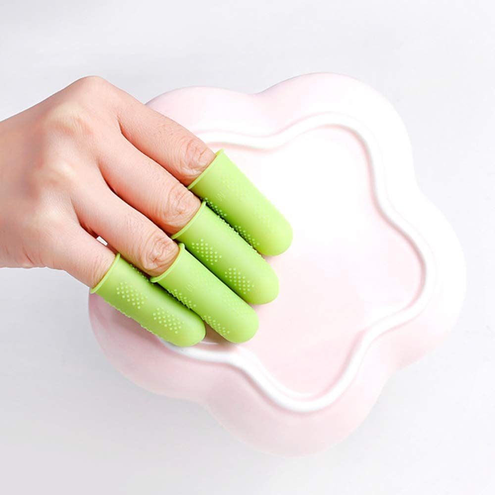 dedos agrietados 3 piezas Orange#01 mano eczema antideslizante para gatillo de dedo protector de dedo Cunas de dedo de silicona