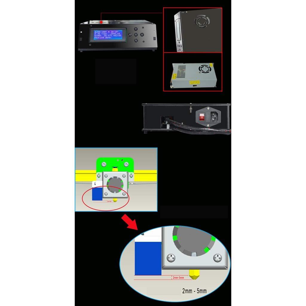 DM-DYJ Impresora 3D Casera, Talla Grande LCD Tamaño De Impresión ...