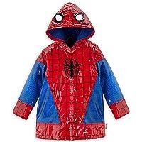 Disney Store Deluxe Spider Man Spiderman Rain Jacket Coat Size XXS 2 2T Red