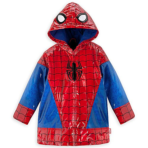 (Disney Store Deluxe Spider Man Spiderman Rain Jacket Coat Size XXS 2 2T)