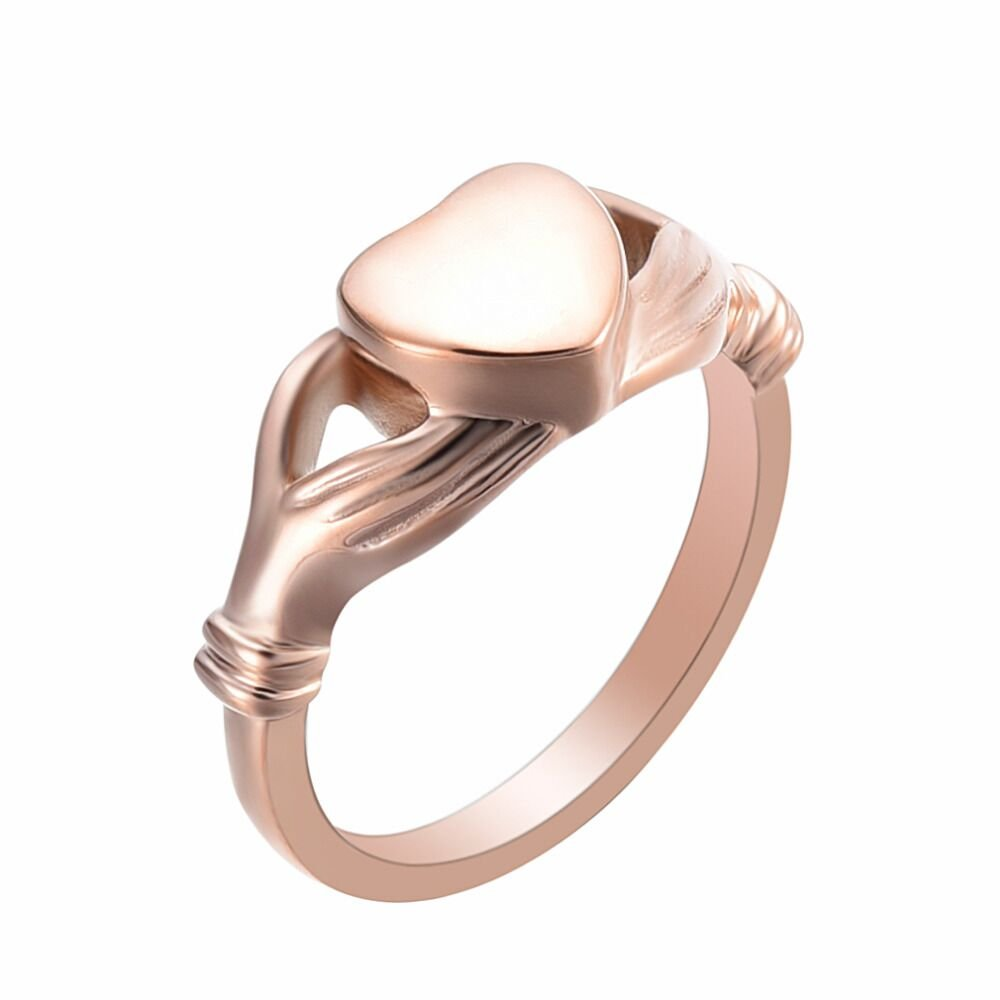 Memorial Ring Engravable Iinfinity Love Heart Eternity Ring Stainless Steel Cremation Jewelry for Ashes#6#7#8#9