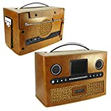Tuff-Luv Roberts DAB radio Stream 93i Retro Vintage leather case - Brown