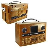 Tuff-Luv Roberts DAB radio Stream 93i Retro Vintage leather case - Brown