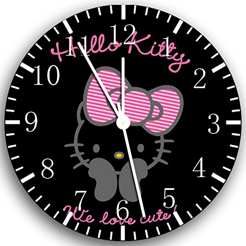 Hello Kitty Frameless Borderless Wall Clock X21 Nice For Gift or Room Wall Decor
