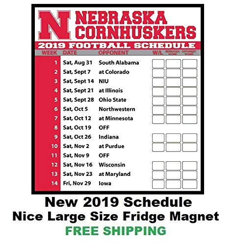 photo regarding Ohio State Football Schedule Printable titled : 2019 NCAA Nebraska Cornhuskers Soccer Routine