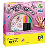 Creativity for Kids Color-in Glitter Tattoos - 60+ Temporary Tattoo Designs