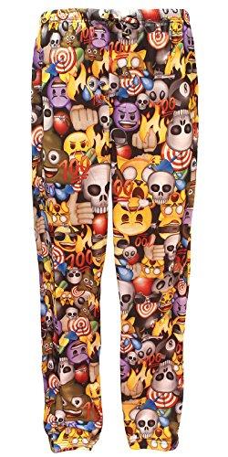 emoji Mens Pajama Pants Allover Licensed Pattern