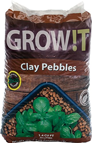 Hydroton Clay Pellets - Hydrofarm Growt GMC40l Clay Pebbles, 4mm-16mm, 40 Liter Bag