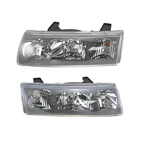 Headlights Headlamps Left & Right Pair Set for 02-04 Saturn Vue (Saturn Vue Headlight Lamp)