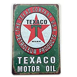 Jewh Motor Oil Plaque Vintage Metal Tin Signs Home Bar Pub Garage Gas Station Decorative Iron Plates Wall Stickers - Art Poster (7,87x11,8inch) (L)