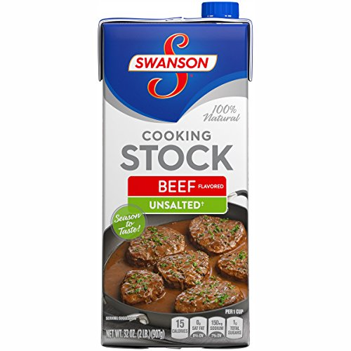 SwansonUnsalted Beef Flavored Cooking Stock, 32 oz. Carton  (Pack of 12)