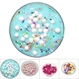 2019 Beautiful Color Rainbow Fluffy Crunchy Foam Beads Kids Anti-Stress Toys Slime Relax Gifts (Light Blue)