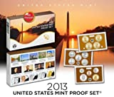 """The 2013-S United States Mint Proof Set contains 14 coins in stunning proof condition displayed in three protective lenses. Each of these 2013-dated coins bears the """"S"""" mint mark of the United States Mint at San Francisco.  The coins included in this..."""