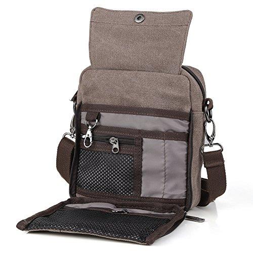 de de la Viajes pequeño bolso verde hombres bolsos multifunción nuevos Mensajero Los Satchel lona Café de la vendimia Zicac nC8tgqFxnw