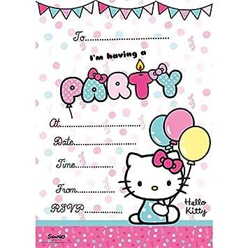 Hello Kitty 20 Einladungskarten mit Umschlägen: Amazon.de: Spielzeug