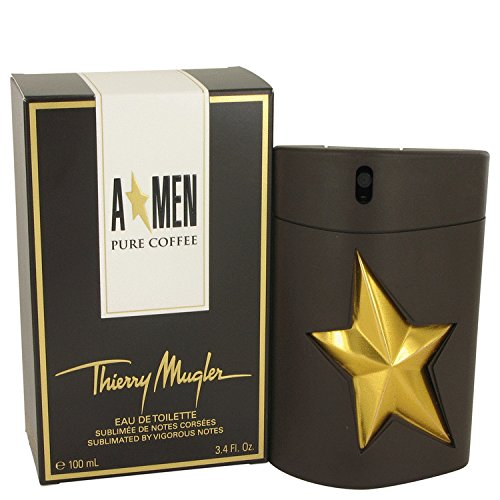 Thiērry Mūgler Angēl Purē Coffeē Còlogne For Men 3.4 oz Eau De Toilette (Angel Men Pure Coffee)