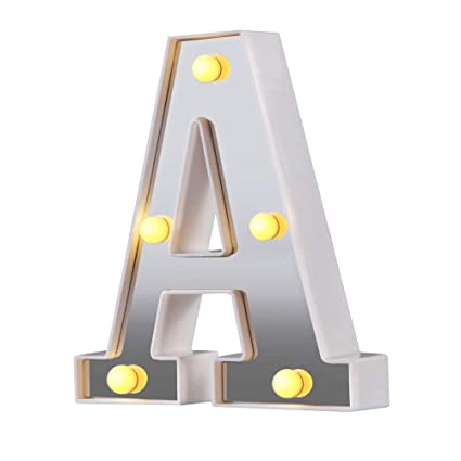 Amazon.com: Letrero con luces LED para carteles, 26 letras ...