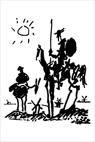 Don Quixote Pablo Picasso 36x24 Art Print Poster Famous for sale  Delivered anywhere in Canada