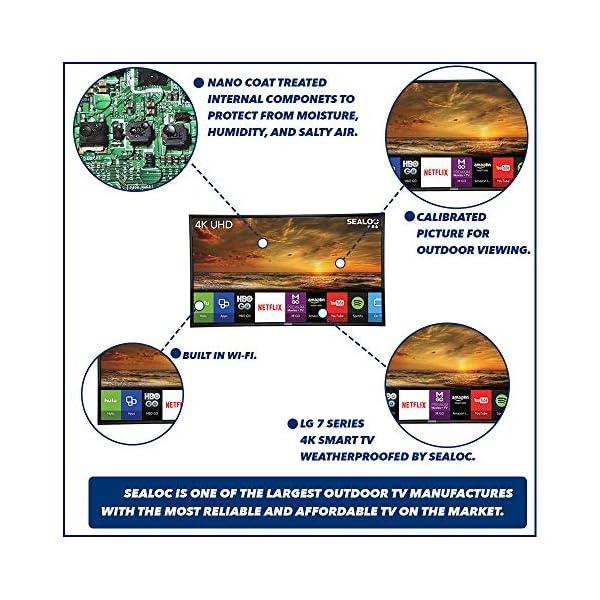 "Outdoor TV Full Weatherized UHD Smart Weatherproof LED Television Sealoc 4K (55"") 3"