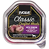 Evolve Classic Crafted Wetcup Meals for Dogs, Venison Recipe, 3.5-Ounce Wetcups (Pack of 15)