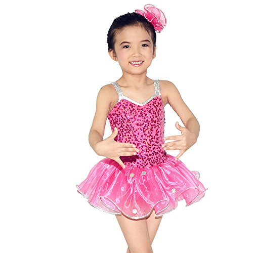 MiDee Girls' Confetti Sequin Dress Dance Costumes Tango And Samba Dancewear Clothing Paso Doble Sequin Dance Clothes For Sale (MC, (Competition Dance Costume For Sale)