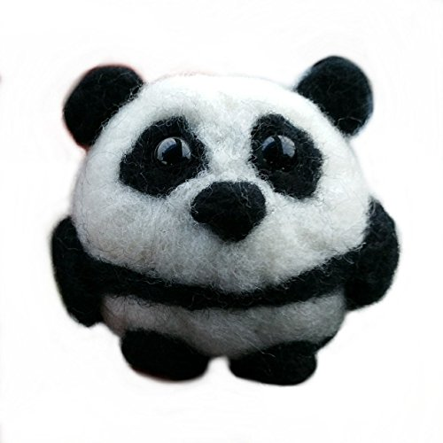 Needle Felted Bear (Needle Felted Wool Panda Bear Ornament)